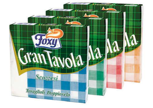 Tovaglioli scozzesi doppio Velo Foxy x 43