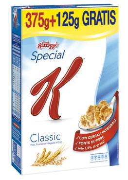 Special K Kellog's 375 g +125 g omaggio