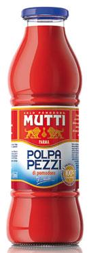 Polpa Pomodoro pezzi Mutti bottiglia 690 g