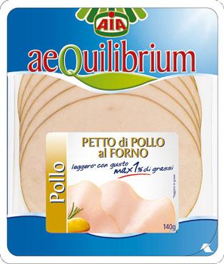 Aequilibrium petto di pollo al forno 140 g