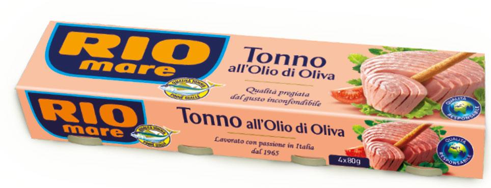 Tonno Rio Mare all'olio di oliva 4 x 80 g