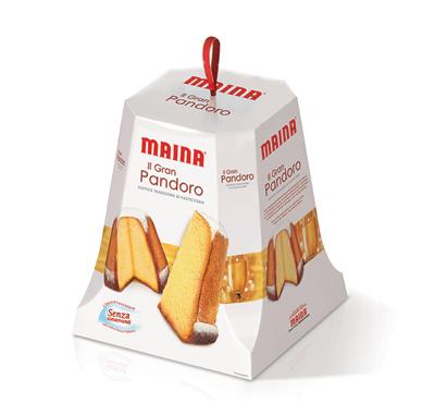 Gran pandoro/Gran panettone classico/senza canditi Maina 700 g