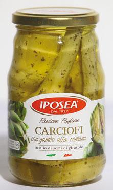Carciofi romana c/gambo Iposea 510 g