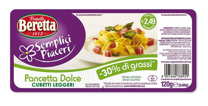Cubetti pancetta -30% grassi Beretta vari tipi 120 g