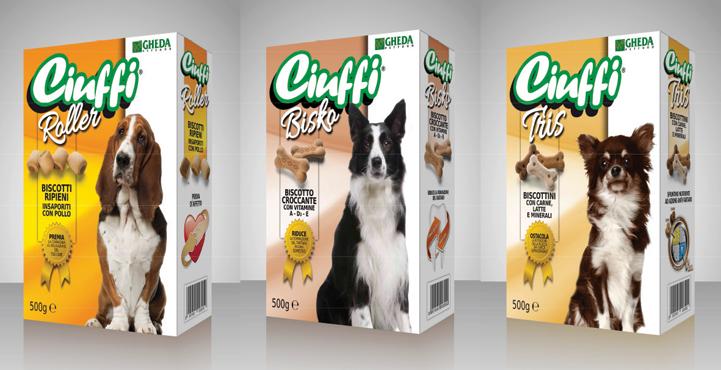 Ciuffi Bisko Biscotti cane medi/Ciuff Roller Biscotti ripieni cane/Tris Biscotti cane piccoli 500 g