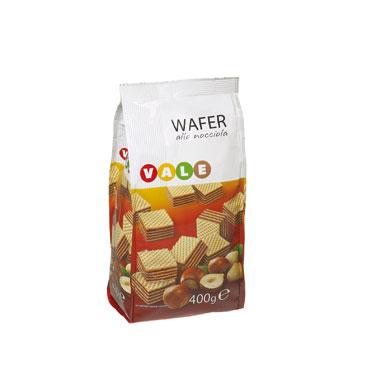 Quadratini Wafer Nocciola Vale 400 g