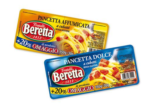 Cubetti di pancetta Beretta vari tipi 180 g