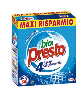 Detersivo in polvere lavatrice Bio Presto 50 misurini