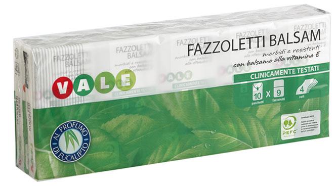 Fazzoletti balsam Vale 10 x 9