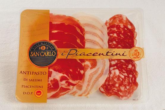Antipasto di salumi Piacentini DOP San Carlo 120 g