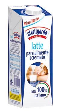 Latte microfiltrato parzialemente scremato Sterilgarda 1 l