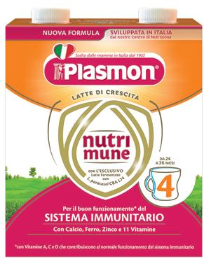 Latte Liquido Nutrimune 3 - 4 Plasmon 2 x 500 ml
