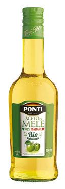Aceto Mele Bio Ponti 100% italiano/non filtrato 0,5 l