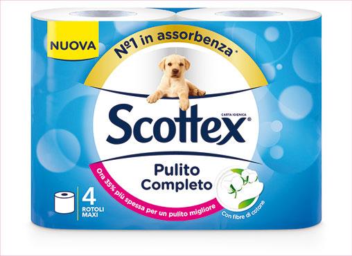 Carta igienica Scottex pulito completo x 4