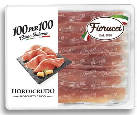 Prosciutto crudo Tivoli 100per100 Fiorucci 90 g