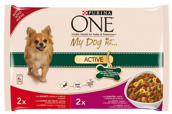 Alimento umido per cani One my Dog Is 4 x 100 g