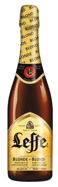 Birra Leffe blonde/rouge bottiglia 75 cl