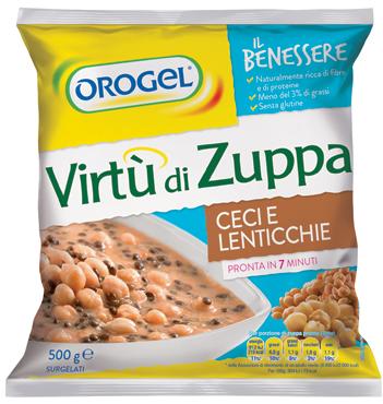 Virtu' di Zuppa Orogel Orzo-funghi/ceci-lenticchie/ribollita 500 g