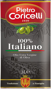 Olio Evo 100% Italiano Latta Coricelli 3 l