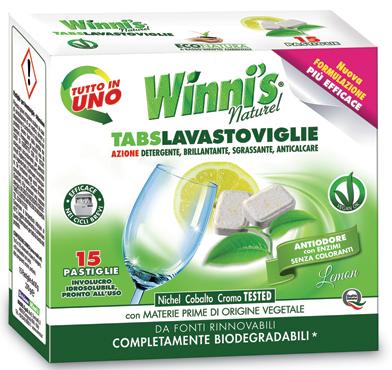 Tabs per lavastoviglie Winni's 15 pz