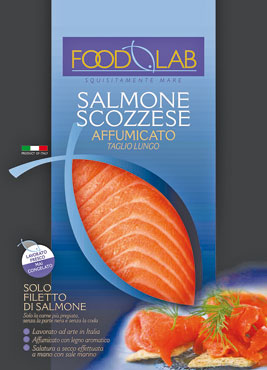 Salmone scozzese affumicato taglio lungo Food Lab 100 g