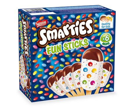 Stecco gelato smarties X6 198 g