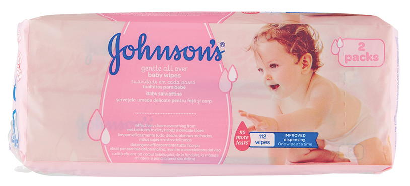 Salviettine Baby Jhonson's formato 56x2