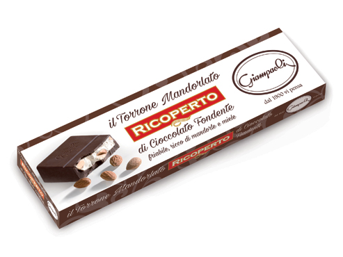Torrone mandorle ricoperto di cioccolato Giampaoli 250 g