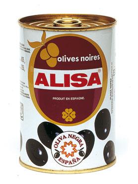 Olive nere intere/denocciolate Alisa latta 340 g