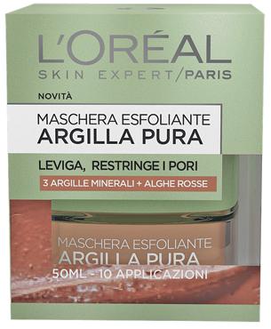 Maschera argilla rossa/nera L'Oreal 50 ml