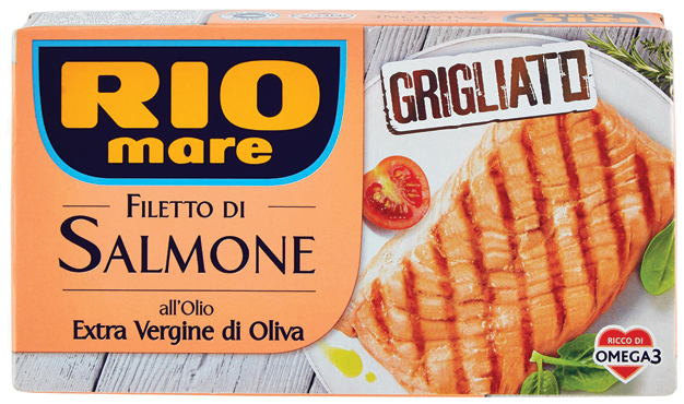 Filetti salmone grigliato olio extra vergine/naturale Rio Mare 125 g