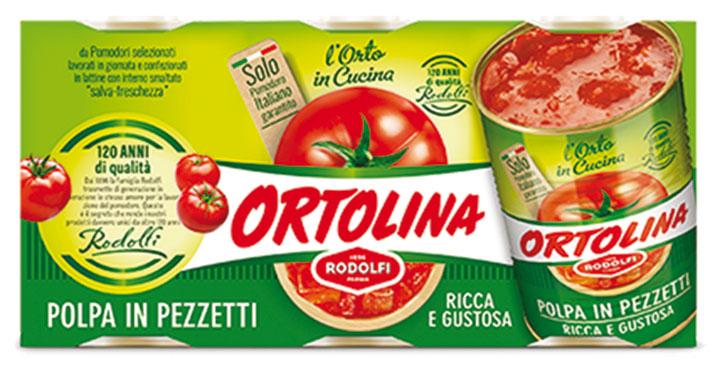 Polpa in pezzetti Ortolina 3 x 400 g