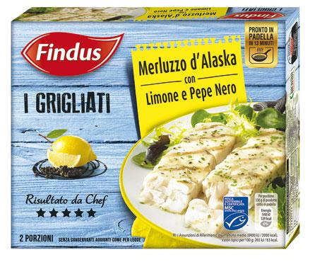I grigliati Findus vari gusti 260 g