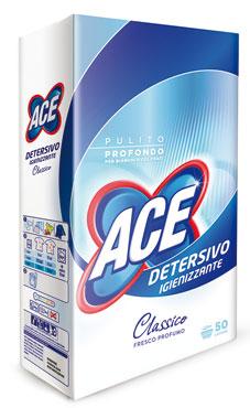 Detersivo lavatrice in polvere ACE 50 misurini