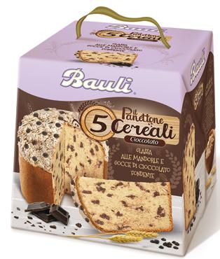 Panettone 5 cereali Bauli vari tipi 750 g