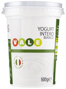 Yogurt bianco intero/magro Vale 500 g