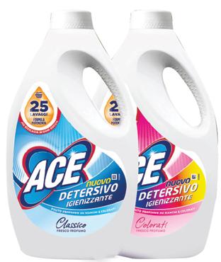 Ace detersivo liquido lavatrice vari tipi 25 lavaggi