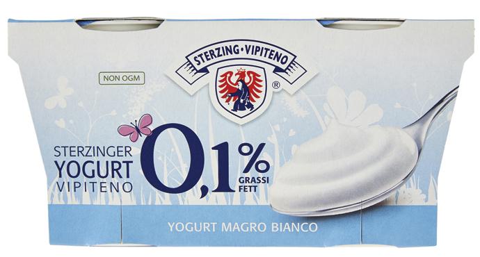 Yogurt Vipiteno magro/sapori/bianco intero 2 x 125 g