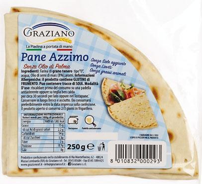Pane azzimo Graziano 250 g