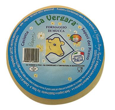Caciotta di mucca La Vergara 600 g circa