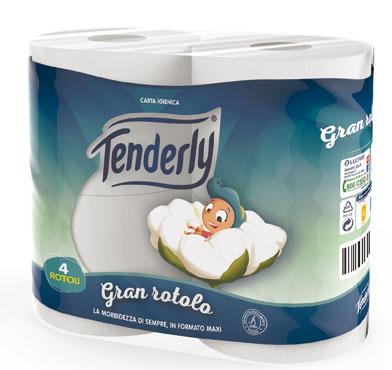 Igienica Tenderly Gran Rotolo x 4
