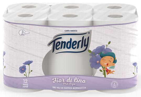 Igienica Tenderly Fior di Lino x 12 rotoli