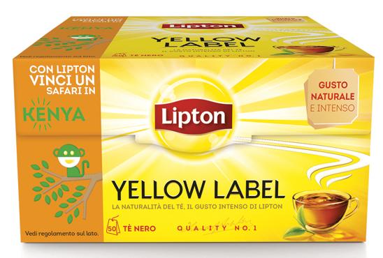 The Lipton Yellow label x 50 filtri