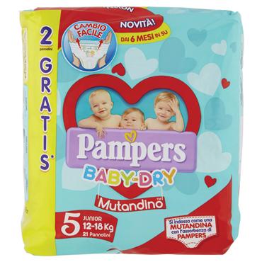 Pannolini Pampers Baby-Dry pacco base e Mutandino varie taglie
