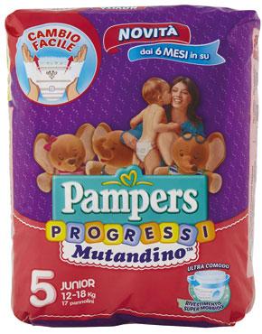 Pampers Mutandino Progressi Junior / Maxi e Pampers linea Progressi varie taglie