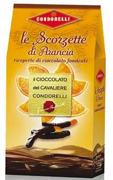 Scorzette Arancia/Limone Cioccolato Condorelli 130 g