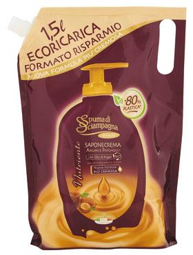 Sapone liquido Spuma Sciampagna ecoricarica Argan 1,5 l