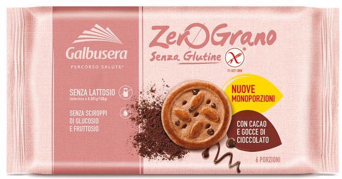 Frollini Zerograno Galbrusera senza glutine/integrali/gocce cioccolato 220 g