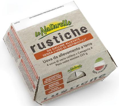 Le naturelle 4 uova rustiche allevate a terra Eurovo 220 g