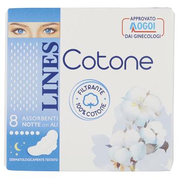 Lines cotone notte x 8/ ultra ali x 10
